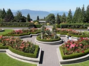 Univ. of British Colombia の Rose Garden