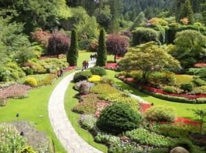 The Butchart Garden - 7万坪、年間100万人、2004年に100周年を迎えカナダ国家史跡に指定