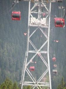 Peak to Peak (P2P) Gondola で山頂へ