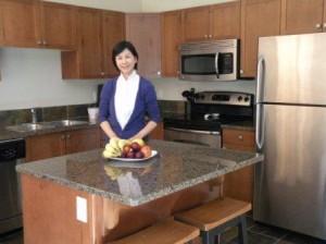 大きな Kitchen、調理機器具&食器も充実
