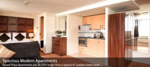 London-Grand Plaza Serviced Aptmnt-部屋内部
