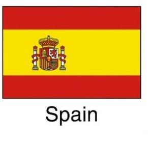 Spain国旗+国名a