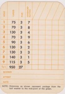 Short-Score Card